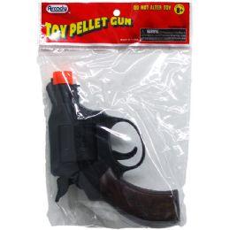 "144 Bulk 5"" Toy Pellet Revolver Gun In Pegable Pp Bag"