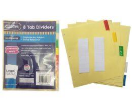 144 Bulk Tab Index Dividers 8 Pieces