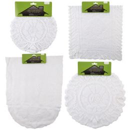 48 Bulk Lace Doily/runner 1/2/3pk Asst White Round/rect/oval Shapes Home Tcd