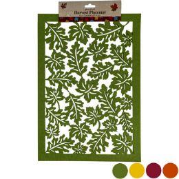 48 Bulk Placemat Felt Leaf Lasercut 12x 17 4asst Fall Colors Hrv Header