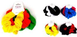 24 Bulk Solid Color Scrunchies