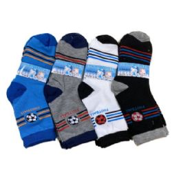 48 Bulk Boy's Quarter Socks 6-8 [sports]