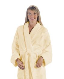 3 Bulk Tahoe Fleece Shawl Collar Robe In Beige
