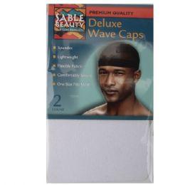 120 Bulk Sable Beauty Deluxe Wave Cap 2 Pack White