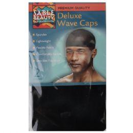 120 Bulk Sable Beauty Deluxe Wave Cap 2pk Black