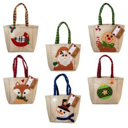 48 Bulk Christmas Character Gift Bag Treat Sack