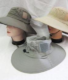 24 Bulk Men's Fishing Safari Boonie Hat