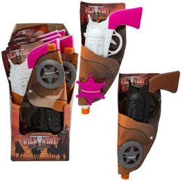 24 Bulk Cowboy/cowgirl Toy Gun Holster W/ Plastic Badge