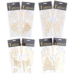 96 Bulk Metallic Hand Tattoos