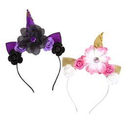 24 Bulk Unicorn Headband W/flowers
