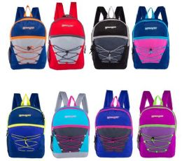 24 Bulk Classic Bungee Wholesale Backpacks In 8 Assorted Colors