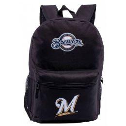 24 Bulk Milwaukee Brewers Bulk Backpacks In Black