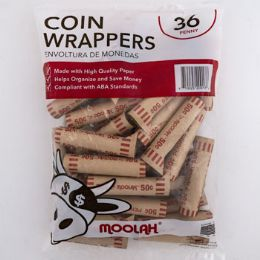 50 Bulk Coin Wrappers - Penny 36ct