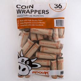 50 Bulk Coin Wrappers - Quarters 36ct