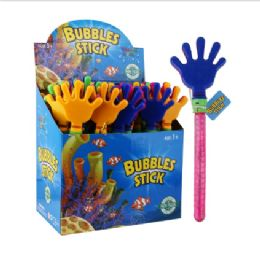 48 Bulk Water World Bubble Stick 12.9in Hand Display