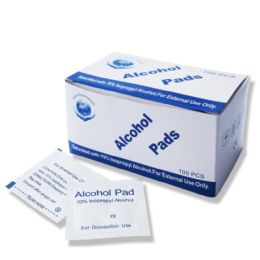 400 Bulk 70% Isopropyl Wholesale Alcohol Pads , First Aid Cleaning Pads