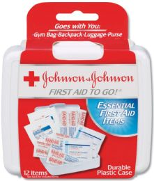 384 Bulk Johnson And Johnson 12-Piece Mini First Aid Kit