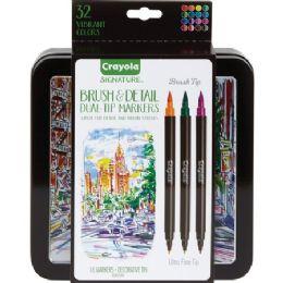 36 Bulk Crayola Brush & Detail Dual Tip Markers