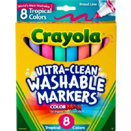 120 Bulk Crayola Tropical Colors Pack Washable Markers