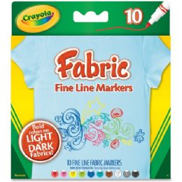 96 Bulk Crayola Bright Fabric Markers