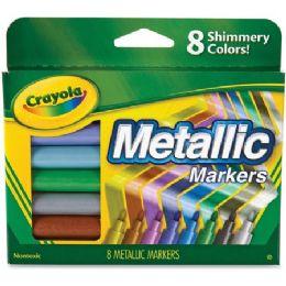 72 Bulk Crayola 8-Color Metallic Markers