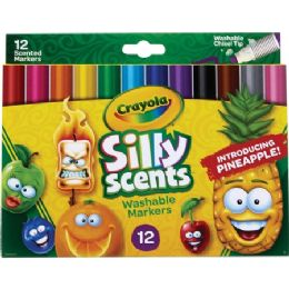 72 Bulk Crayola Silly Scents Slim Scented Washable Markers