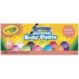 66 Bulk Crayola 10-Color Neon Washable Kids Paint