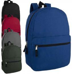 24 Bulk 17 Inch Solid Backpack