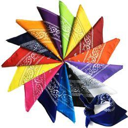 120 Bulk Assorted Cotton Bandana Mixed Prints, Mixed Colors Mix Styles Bulk Bandannas