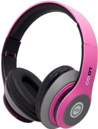 24 Bulk Power 3 Wireless Wireless Headphones Solid Pink