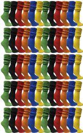 60 Bulk Yacht & Smith Womens Cotton Slouch Socks, Womans Knee High Boot Socks (60 Pack Assorted)