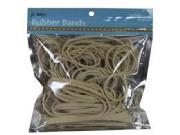 72 Bulk Natural Color Rubber Bands In Assorted Sizes