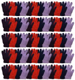 72 Bulk Yacht & Smtih Womens Assorted Colors Warm Fuzzy Gloves