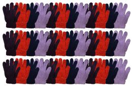 36 Bulk Yacht & Smtih Womens Assorted Colors Warm Fuzzy Gloves