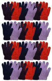 24 Bulk Yacht & Smtih Womens Assorted Colors Warm Fuzzy Gloves