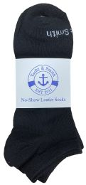 60 Bulk Yacht & Smith Mens 97% Cotton Low Cut No Show Loafer Socks Size 10-13 Solid Black