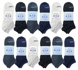 60 Bulk Yacht & Smith Mens Cotton Low Cut No Show Loafer Socks Size 10-13 Solid Assorted