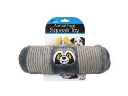 18 Bulk Animal Face Squeak Toy Assortment