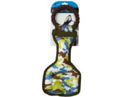 9 Bulk Camouflage Dog Tug Toy With Rope Handle