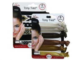 144 Bulk Mia Beauty 6 Piece Tony Ties In Assorted Colors And Patterns