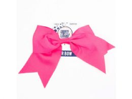 144 Bulk Create Out Loud Large Pink Hair Bow