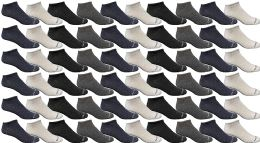 72 Bulk Yacht & Smith Wholesale Men's Cotton Shoe Liner Training Socks Size 10-13 (assorted, 72)
