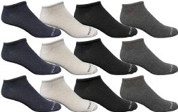 12 Bulk Yacht & Smith Wholesale Men's Cotton Shoe Liner Training Socks Size 10-13 (assorted, 12)