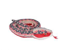 6 Bulk Wild Republic Jumbo 110in Plush Red Scales Snake