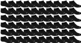 120 Bulk Yacht & Smith Unisex 97% Cotton Shoe Liner Training Socks Size 6-8, No Show Thin Low Cut Sport Ankle Socks Black