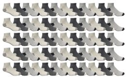 60 Bulk Yacht & Smith Men's Cotton Sport Ankle Socks Size 10-13 Packed Assorted Colors