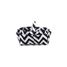 120 Bulk Handbag / Cosmetic Organizer Chevron White/black
