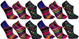 24 Bulk Yacht & Smith Womens Cotton No Show Loafer Socks With Anti Slip Silicone Strip