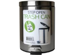 6 Bulk 3 Liter Step Open Trash Can