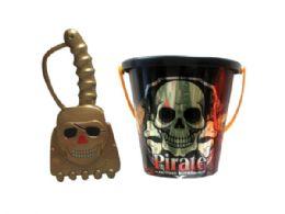 72 Bulk Assorted 6 Pirate Bucket With Shovel